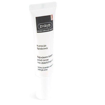 Ziaja MED - Kuracja lipidowa - Fizjoderm KREM pod oczy do skóry bardzo wrażliwej i alergicznej, 15 ml.