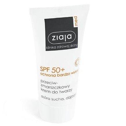 Ziaja MED - Ochrona SPF 50+ - KREM przeciwzmarszczkowy do twarzy, 50 ml.