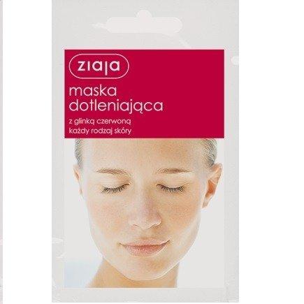 Ziaja - Maski z glinką - Maska Dotleniająca z glinką czerwoną do każdego rodzaju cery, 7 ml.