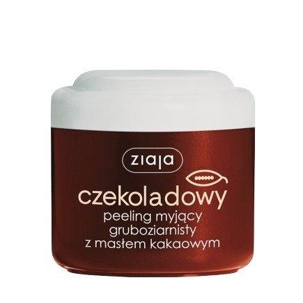 Ziaja - Masło Kakaowe - Czekoladowy PEELING myjący, gruboziarnisty, 200 ml.
