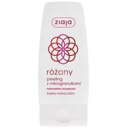 Ziaja - Różana - PEELING z mikrogranulkami, oczyszcza każdy rodzaj skóry, 60 ml.