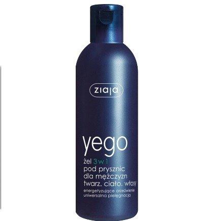 Ziaja - Yego - ŻEL myjący pod prysznic 3 w 1 dla mężczyzn, 300 ml.